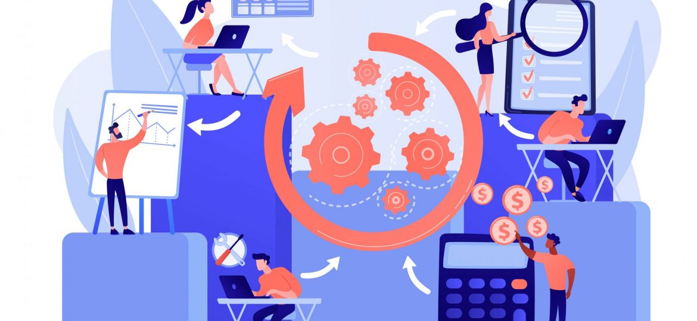 Workflow vector illustration
